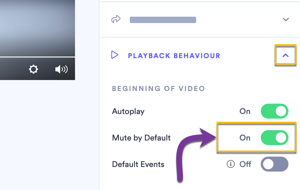 Switching the Mute by Default toggle setting to ON