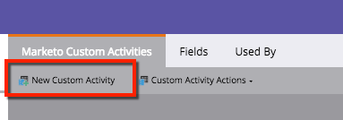 New Custom Activity button is in the top left corner.