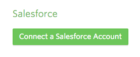 Connect a Salesforce Account button