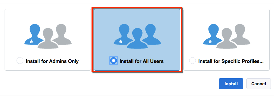 Install for All Users button