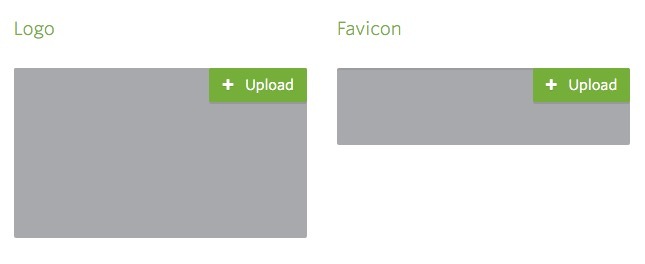 Upload logo or favicon