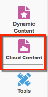 Cloud Content is found in the left menu of the Landing Page.