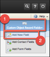 Add New Field button under Custom Object Record Fields.