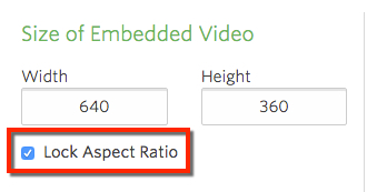 The Lock Aspect Ratio button from Player Settings is checked.