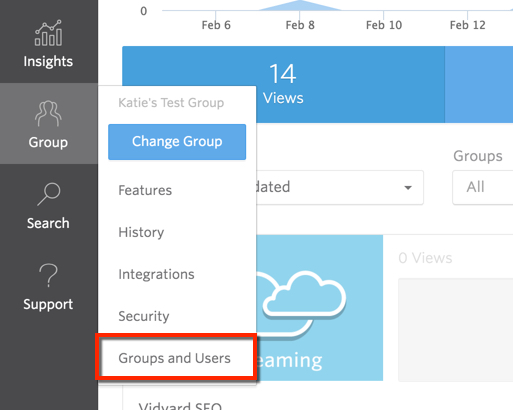 In the Group menu, the Groups and Users option.