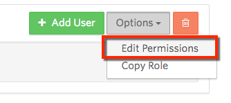 Edit Permissons button in a Role called Users.
