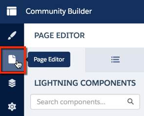 Page Editor is the second option in the righthand menu.