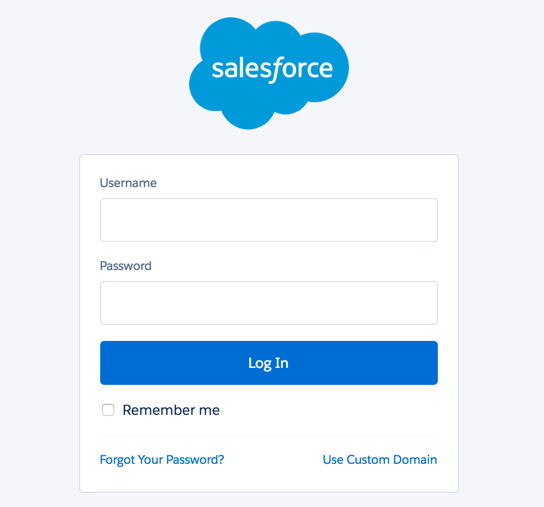 The standard Salesforce login page.
