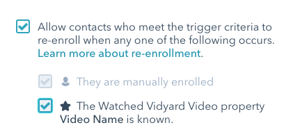 Change re-enrollment to allow contacts to re-enroll