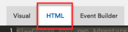 Give name and click HTML