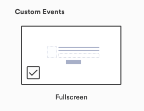 Click Fullscreen and then Create
