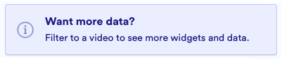 The Want more data? prompt in the Insight Dashboard, indicating that more information is available with a filter