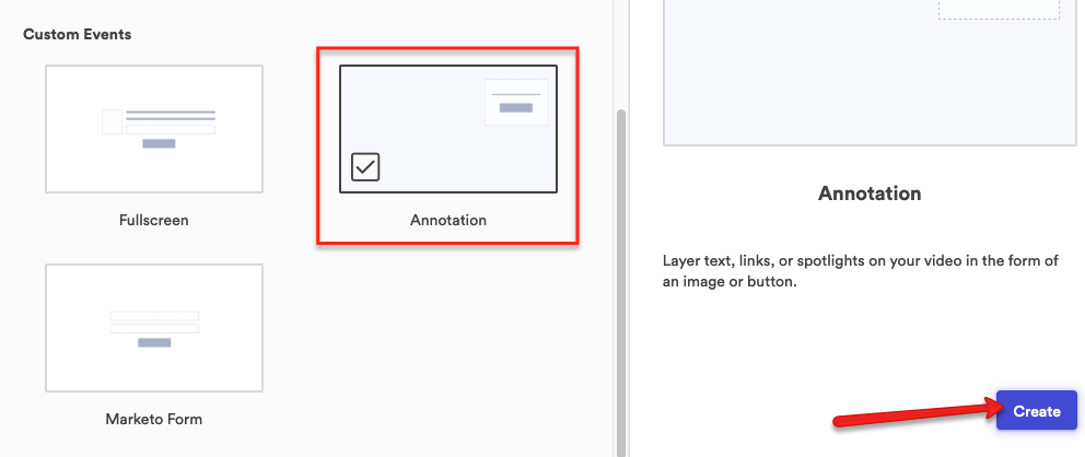 Click Annotation and Create