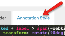 Annotation Style Tab