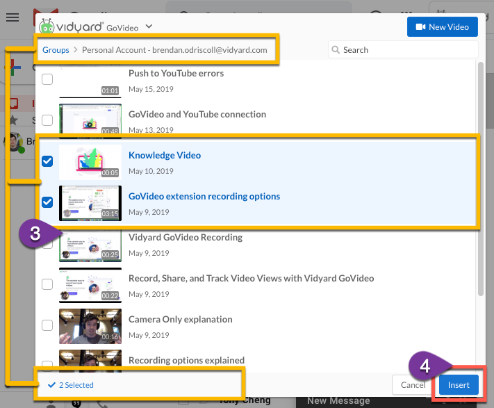 GoVideo for Gmail – Vidyard Support