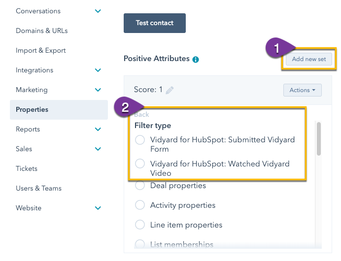 Using Vidyard filters to create lead score criteria with video engagement data