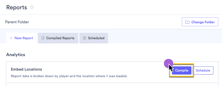 Creating an Embed Location report in Vidyard