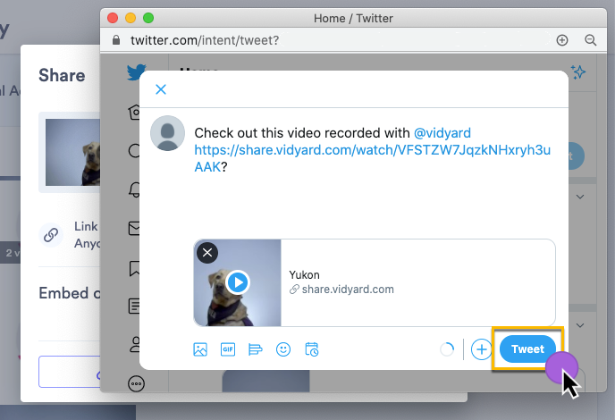 Formatting your Tweet that includes a video